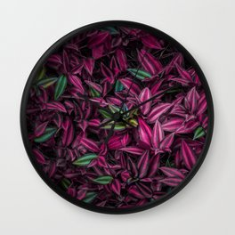 Leaves Texture Wall Clock