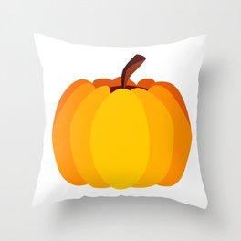 Orange Pumpkin Throw Pillow