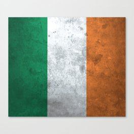 Distressed Irish Flag Canvas Print