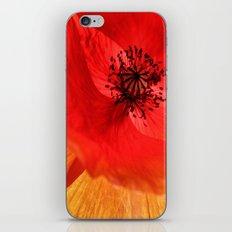 Poppy Fire iPhone & iPod Skin