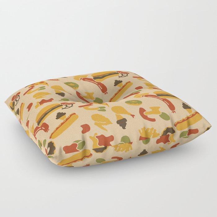 Fast Foodouflage Floor Pillow