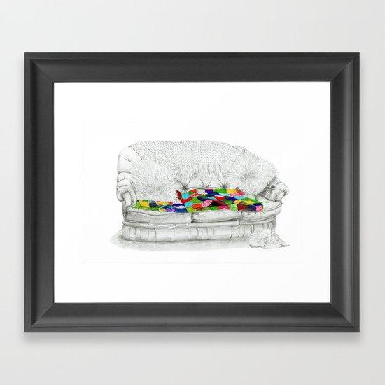 Granny's Sofa Framed Art Print
