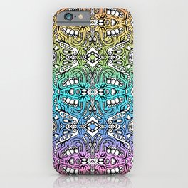 lovely lumps - rainbow abstract pattern iPhone Case