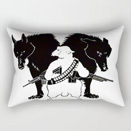 Democracy vs Liberty Rectangular Pillow
