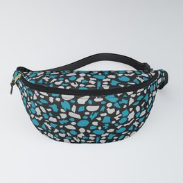 Terrazzo in Peacock Blue, Gray and Black Fanny Pack