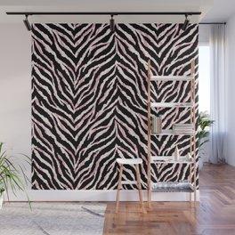 Zebra fur texture print Wall Mural
