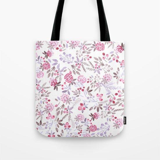 Watercolor floral pattern . Tote Bag