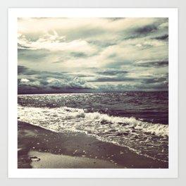 The Ocean Does Not Sleep Art Print