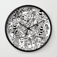 lsd Wall Clocks featuring LSD by octavio ramirez