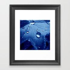 water pearls Framed Art Print