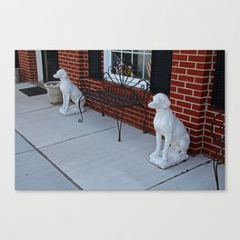 Two Guard Dogs Canvas Print