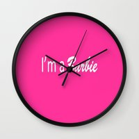 barbie Wall Clocks featuring Barbie by Luxe Glam Decor