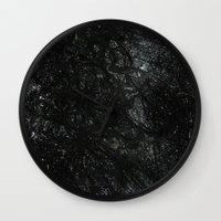 gray Wall Clocks featuring Gray by Justin Similey
