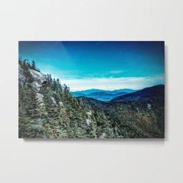 Metallic Mountain Metal Print