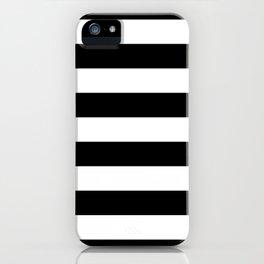 Black Bold Stripes iPhone Case