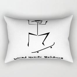 Weird Human Behavior - Skateboarding Rectangular Pillow