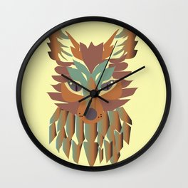 fox vector Wall Clock