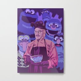 BREAKING BAD - Some kind of blue addiction Metal Print