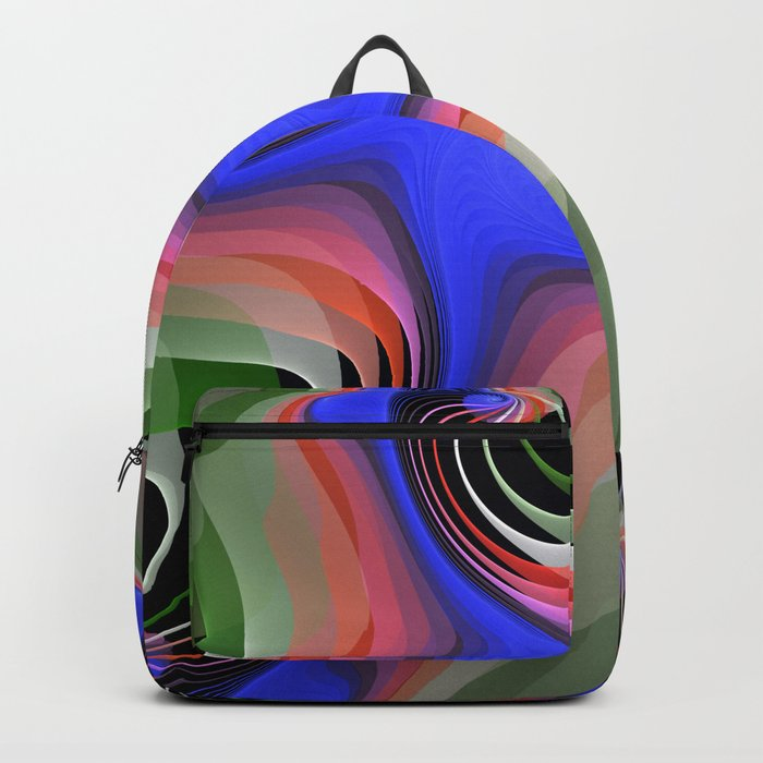 Connections, colourful modern fractal abstract Backpack