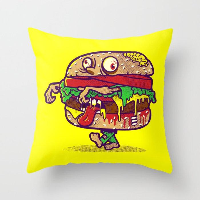 ZOMBURGER Throw Pillow