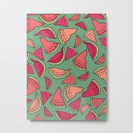 Watermelon Party Metal Print