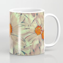 Warped Daisies | Real Dasiy Flowers, Floral Photo, Surreal, Abstract Photo Coffee Mug