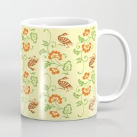 chinese Mugs featuring Chinese pattern by colorlabo