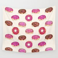 doughnut Wall Tapestries featuring Homemade Doughnuts  by Perrin Le Feuvre