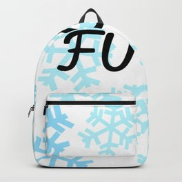 FUCK Snowflakes Pattern Backpack