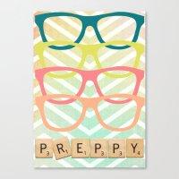 preppy Canvas Prints featuring Preppy by BlytheStarlight