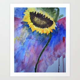 Sunflower Prayer Art Print