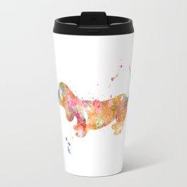 Colorful Dachshund Travel Mug