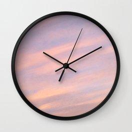 Strawberry Blue Skies Wall Clock