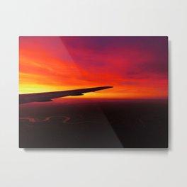 Sunset at 30000 feet (again) Metal Print