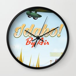 Idaho! By air Poster Wall Clock