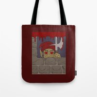 kindle Tote Bags featuring Peeking Redcap by Richard Fay