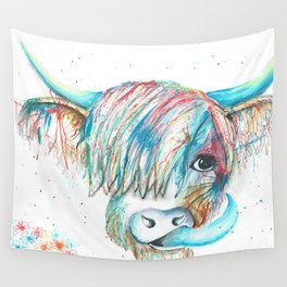 Highland Cattle full of colour Wall Tapestry