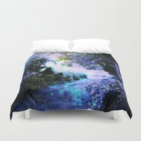 fantasy Duvet Covers featuring fantasy garden Periwinkle by 2sweet4words Designs