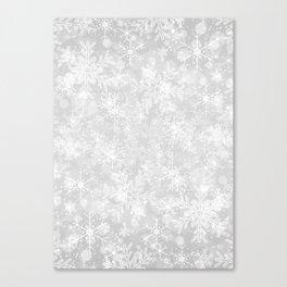 Silver Snowflakes Canvas Print