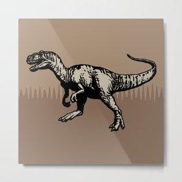 ChocoPaleo: Allosaurus Metal Print