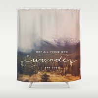 wander Shower Curtains featuring wander by ashes