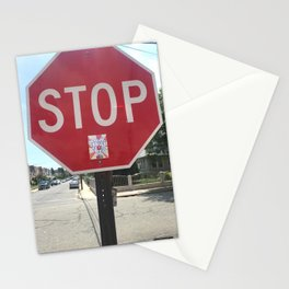 Stop for love Stationery Cards
