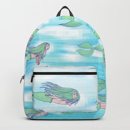 Mermaids dream by day Backpack