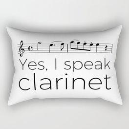 I speak clarinet Rectangular Pillow