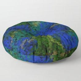 Peacock crystal mosaic Floor Pillow