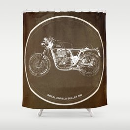 Royal Enfield motorcycle quote - For some there's therapy Shower Curtain