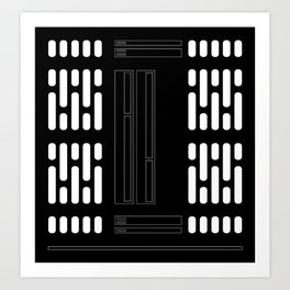 Sci-Fi Light Panel Wall Art Print