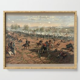 Civil War Battle of Gettysburg by Thure de Thulstrup (1887) Serving Tray