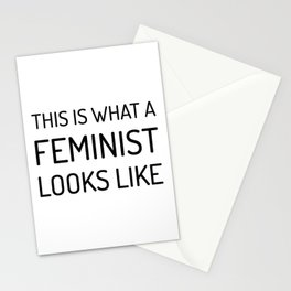 This is What a Feminist Looks Like Stationery Cards