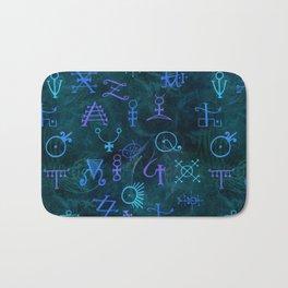 Alchemy Symbols Pattern Bath Mat